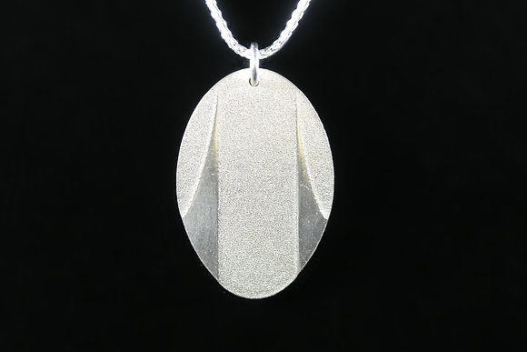Grid City Oval Necklace
