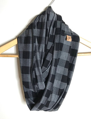 Inside-Out Scarf - Grey Plaid