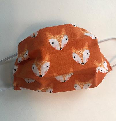 Youth Orange Fox, Pleated Mask