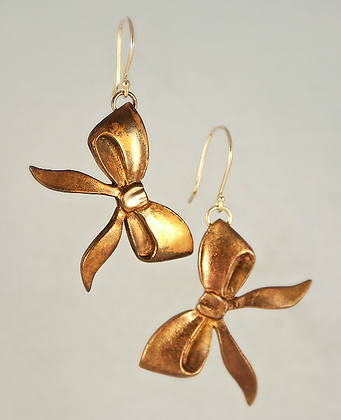 Bronze Bow Earrings