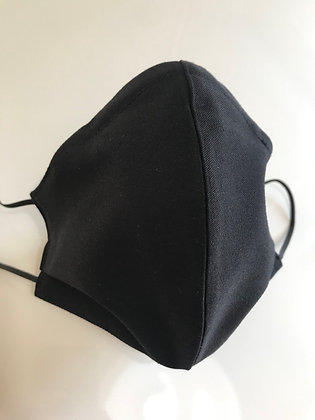 Mid-weight Black, Shaped Mask