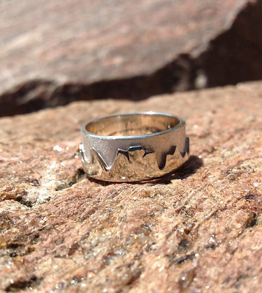 Sterling Silver-Women's Mountain Ring