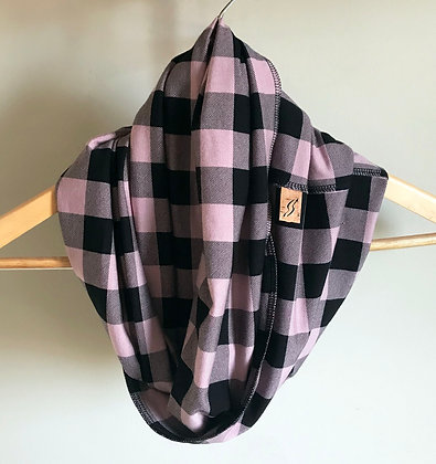 Inside-Out Scarf - Pink Plaid