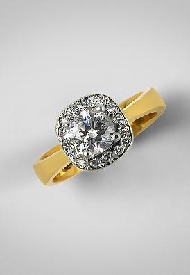 Spisani Redesigned halo ring custom engagemnt ontario sarnia point edward