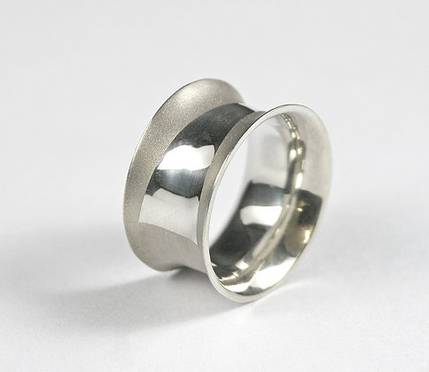 Sterling Textured Wide Ring