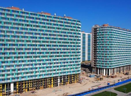 "Окончание работ по остеклению балконов на объекте ЖК ""Огни Залива"""