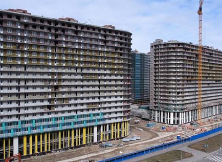 """Начало работ по остеклению балконов на объекте ЖК """"Огни Залива"""""""