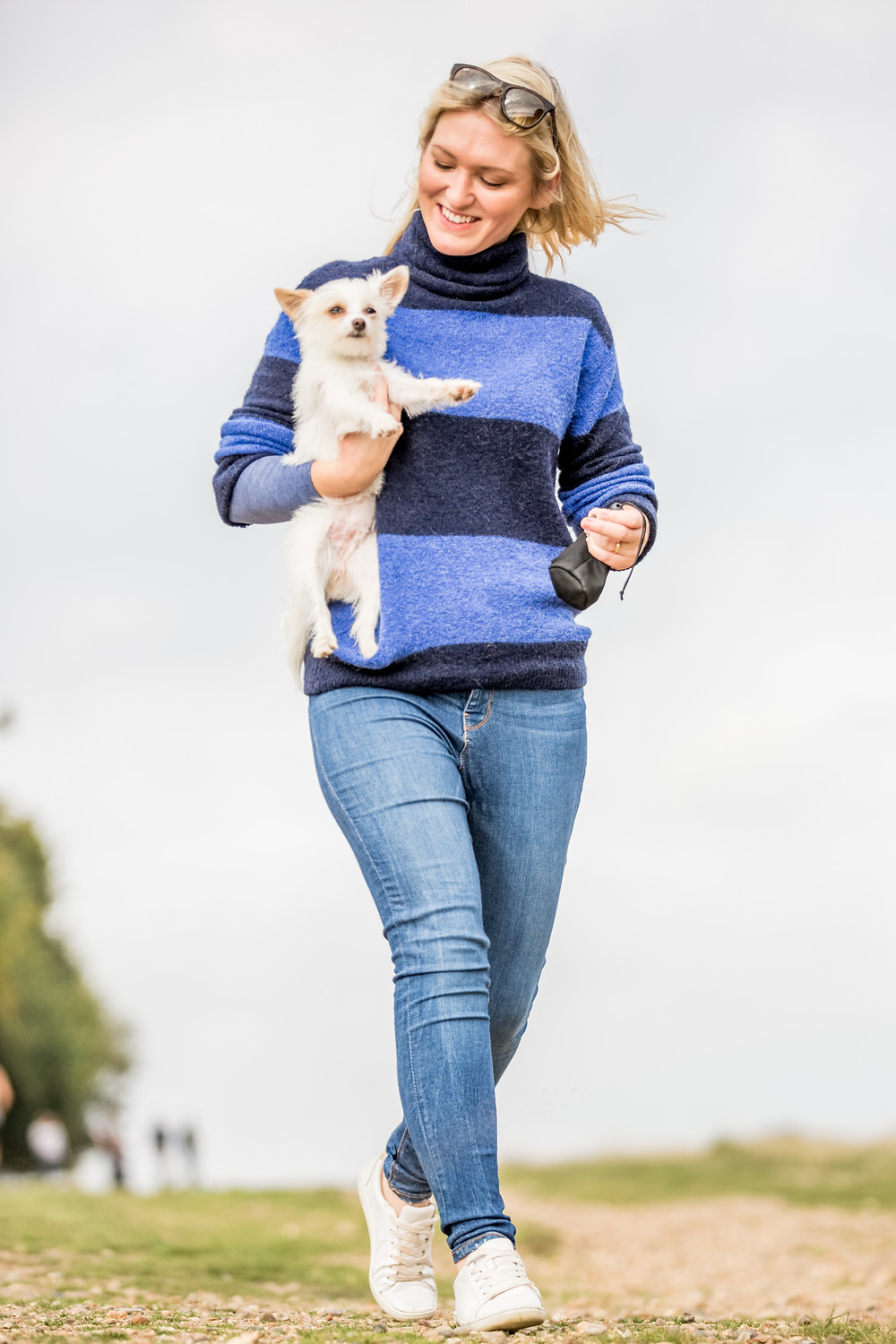 Dog photography in London. Louis and Lynsey in Richmond Park