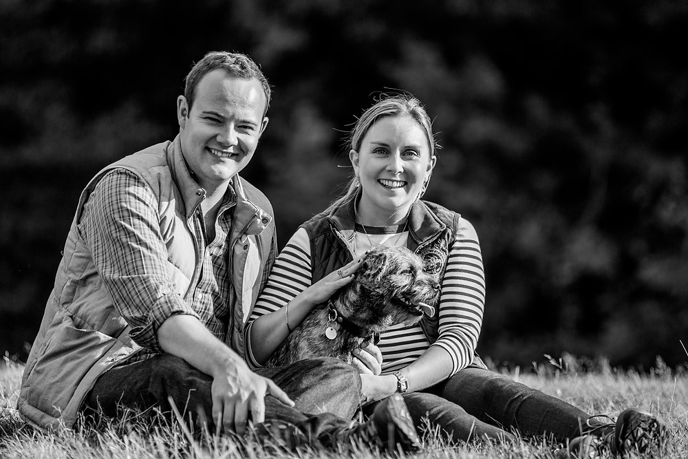 Dog photography in London. Monty the border terrier and his owners