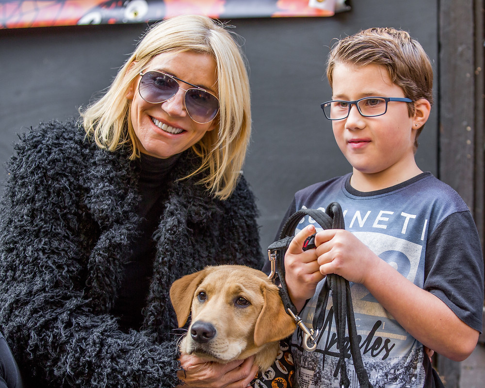Dog photography in London. All Dogs Matter Halloween Charity Event. Celebrity judge Michelle Collins.