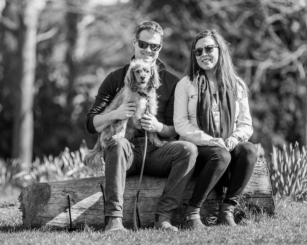 Dog photography in London. Parker and his owners