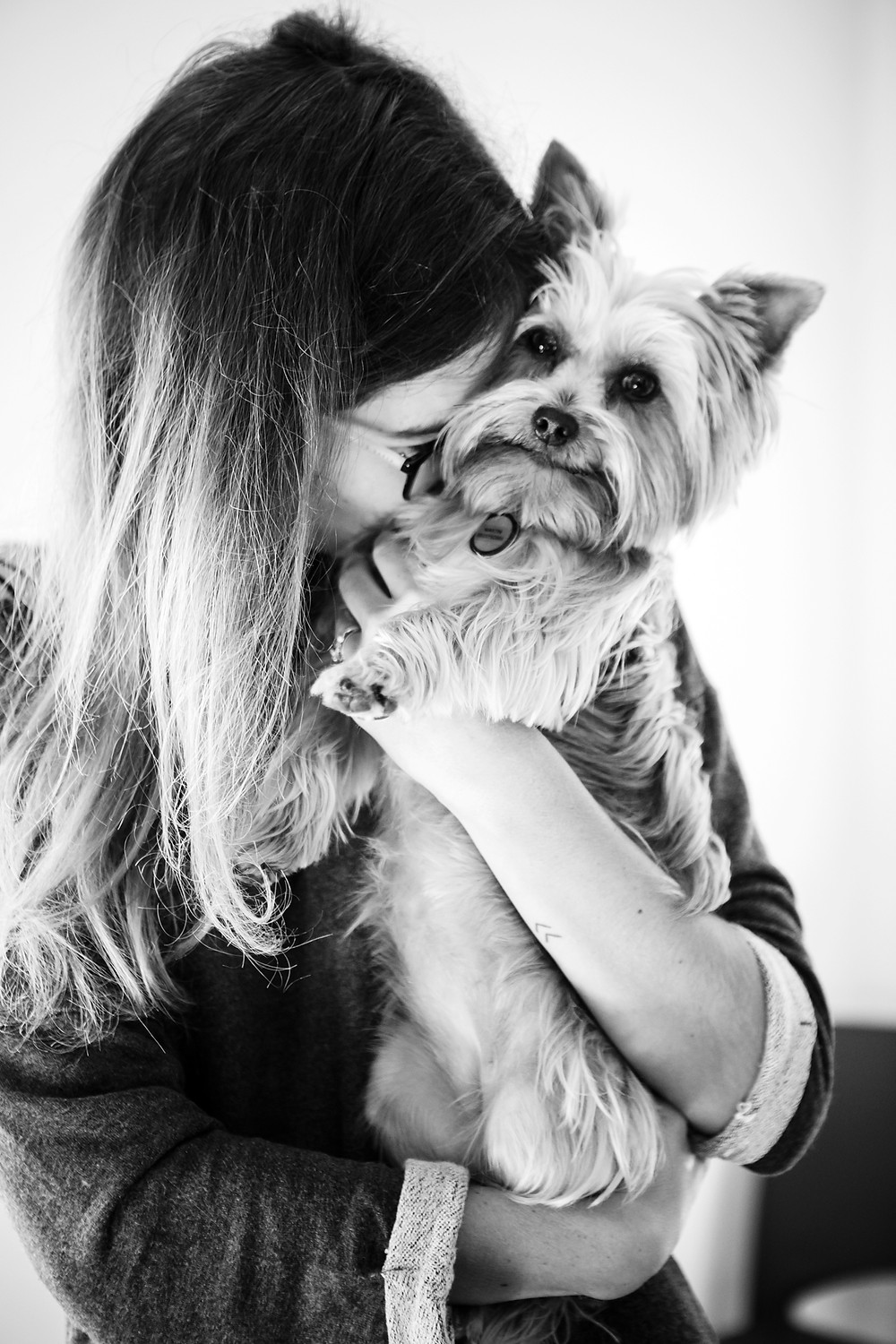 Pet photography in Cape Town. Tini the teacup yorkie with her owner