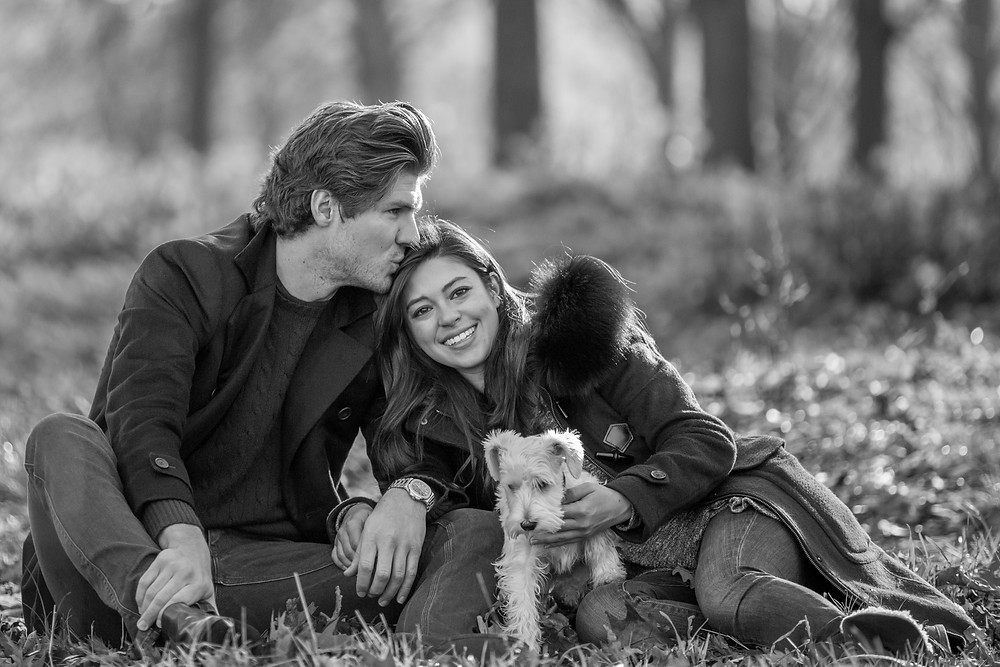 Dog photography in London. Charley the Miniature Schnauzer with his family