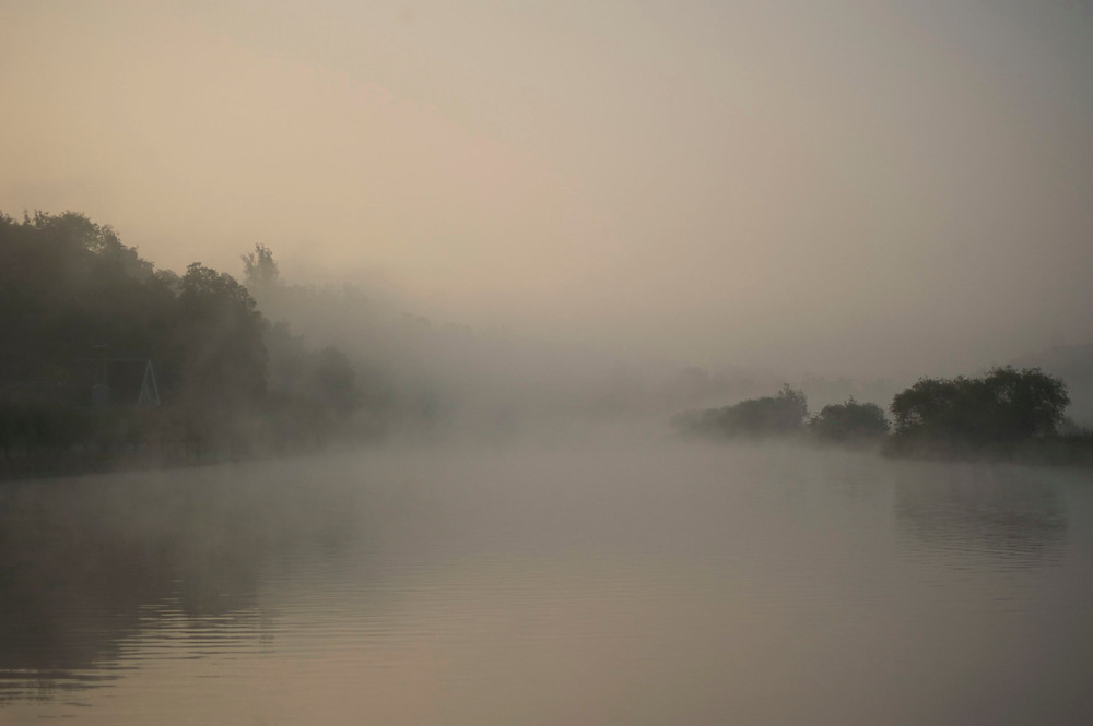 Photography in Henley. A misty river in Henley