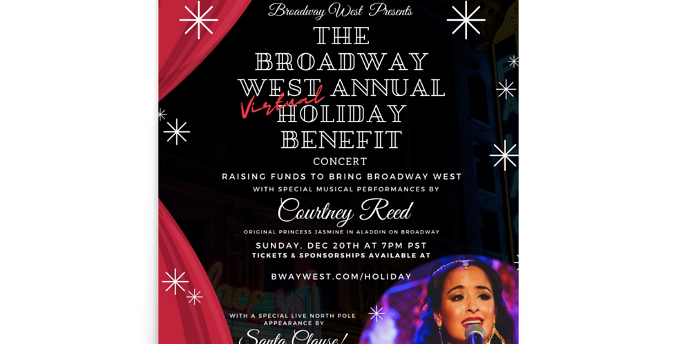Official Broadway West Holiday Benefit Poster