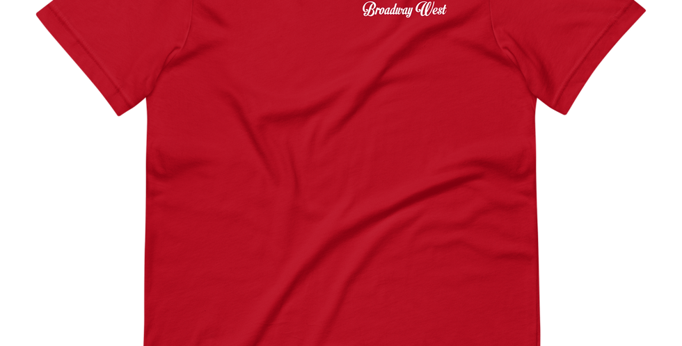 Mens Limited Edition Red Broadway West Hit Tee
