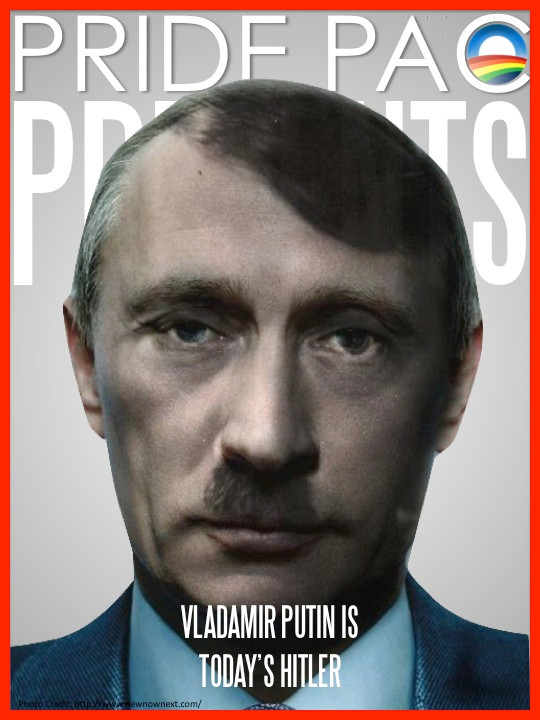 PUTIN TO THE GAYS IS WHO HITLER WAS TO THE JEWS