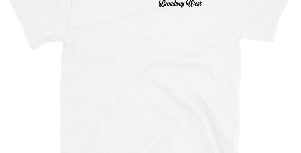 Mens Limited Edition Broadway West White Hit Tee