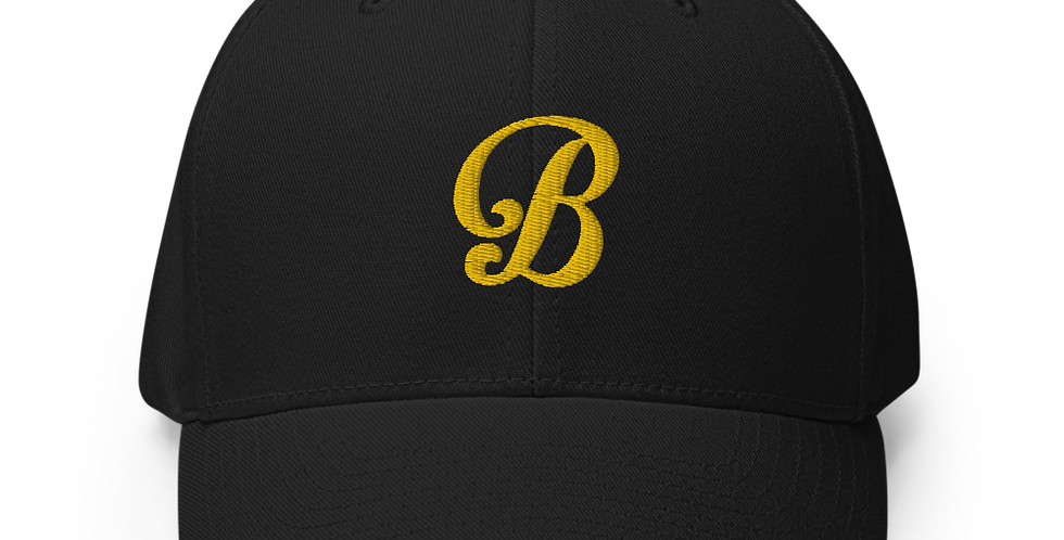 Golden B for Broadway West Dad Fitted Cap