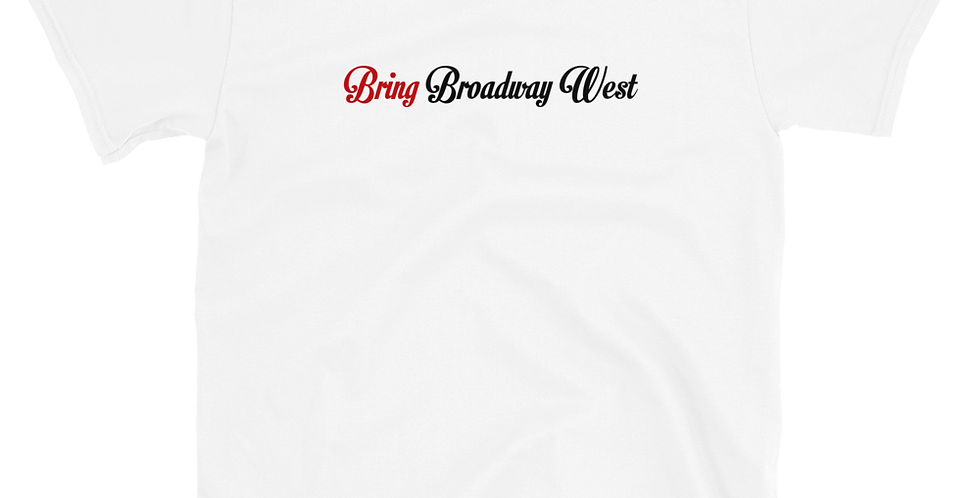 Mens Bring Broadway West Limited White Tee