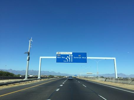The road to Khayelitsha, South Africa