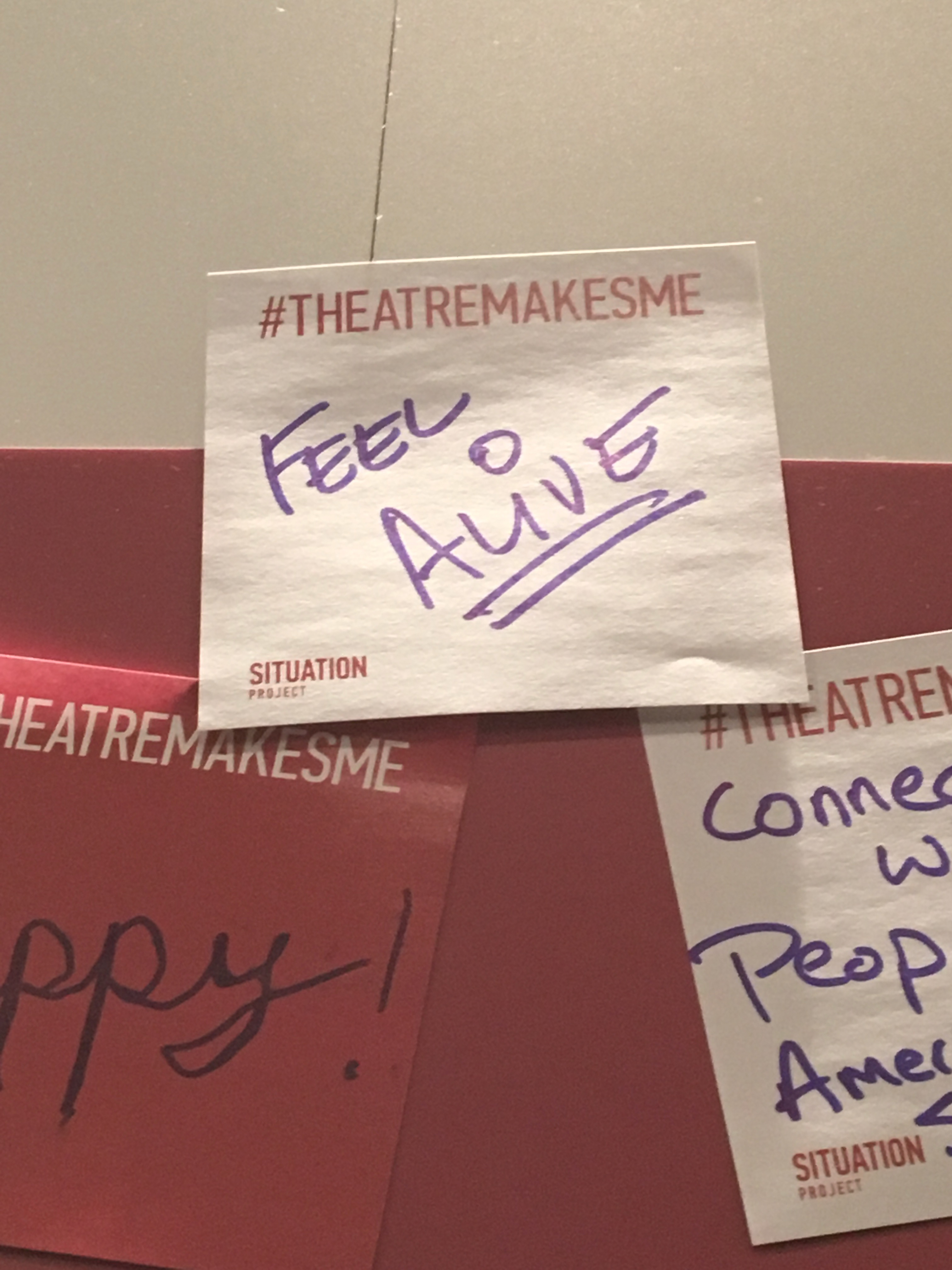 #THEATERMAKESMEFEEL Wall