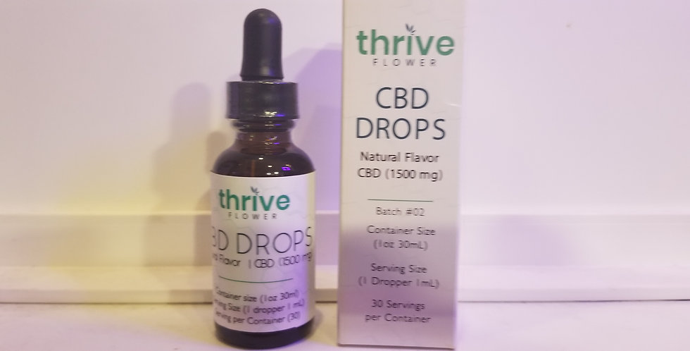 Thrive 1500 Mg Full Spectrum 1 ounce Tincture