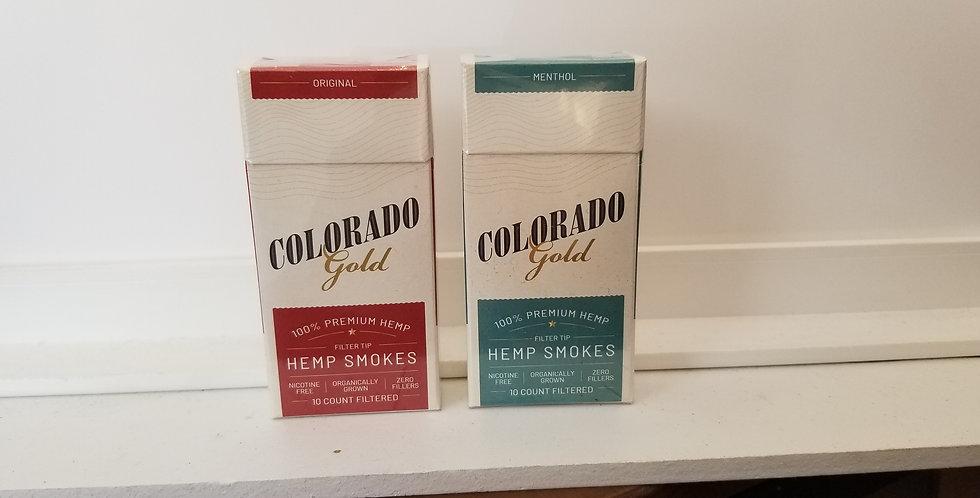 Colorado Gold Hemp Smokes 75 Mg EACH 10 PER PACK/ 2 PACK TO SHIP l