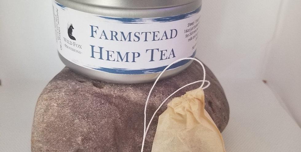 Farmstead Hemp Tea Bags 100 MG per tea bag.
