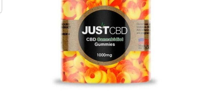 Just CBD 1000 Mg Peach Gummies