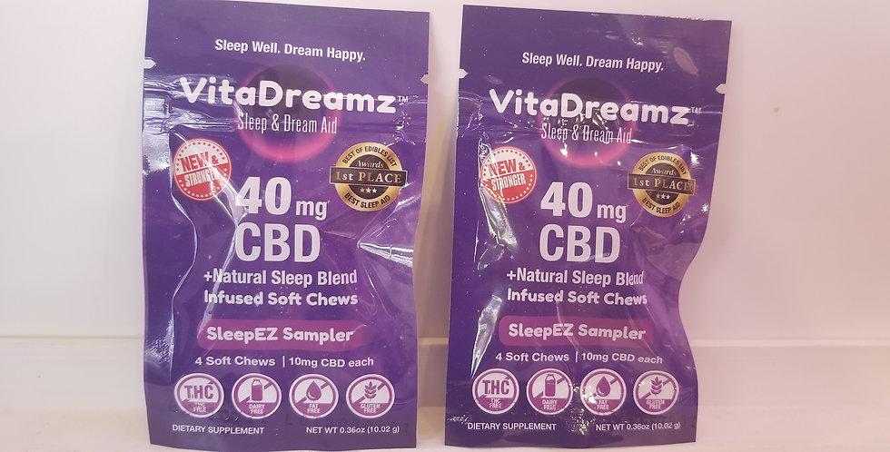Vita Dream Sleep  10 MG each Gummie and with  Melatonin 2 pack Min