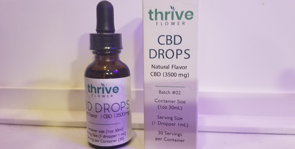 Thrive 3500 Mg 1 ounce Full Spectrum Tincture