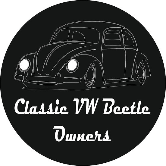 Classic VW Beetle Owners - Club Sticker