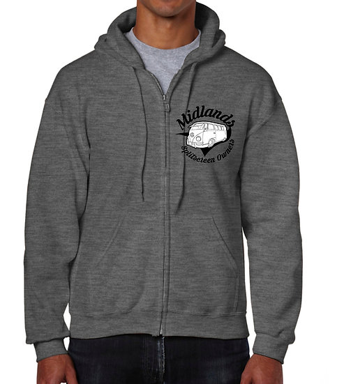 Midlands Splitscreen Owners Club Hoody with Zip - Mens