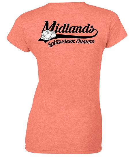Midlands Splitscreen Owners Club - T Shirt - Ladies