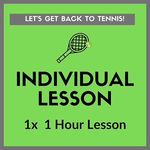1x Individual Lesson (1 hour)