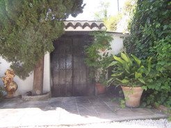 Patio entrance to the main house.