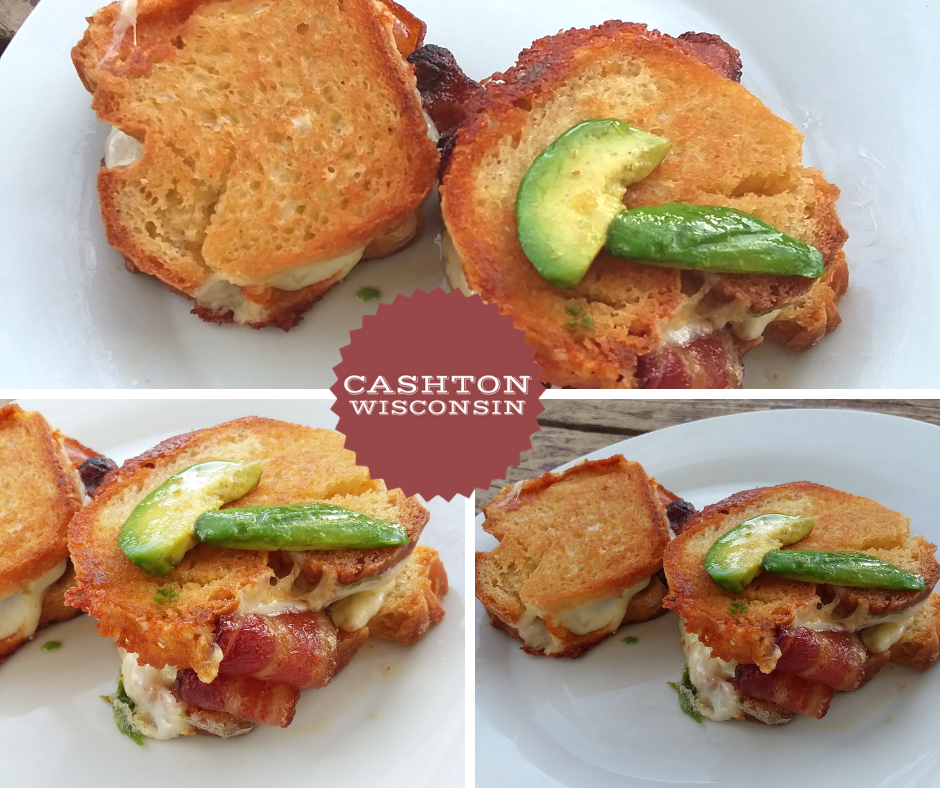 Maple Bacon Avocado Grilled Cheese recipe from Cashton WI
