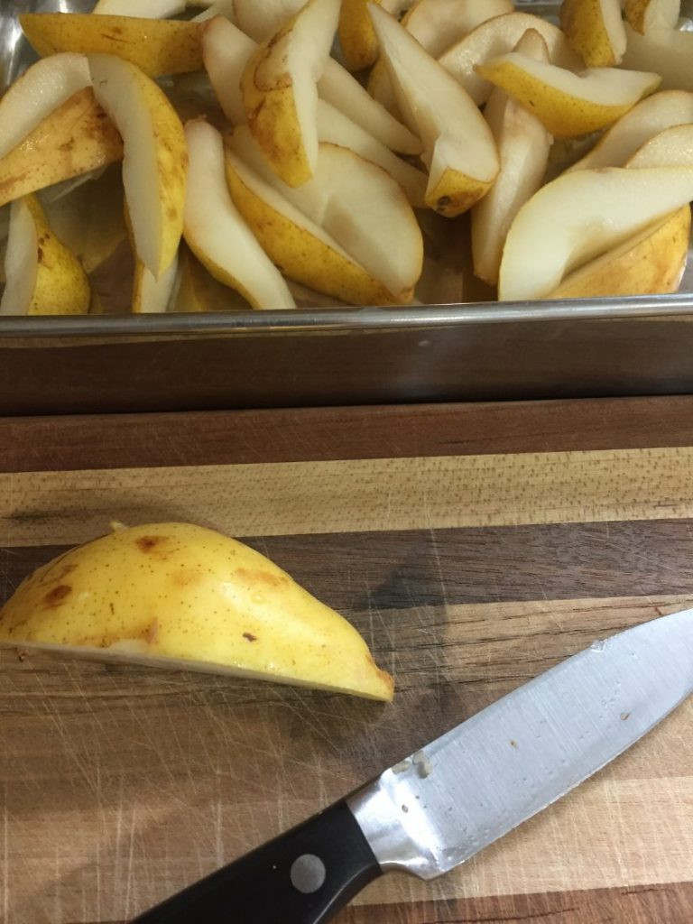 homegrown pears for autumn crisp