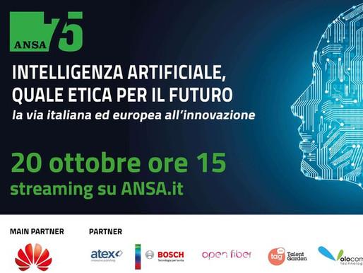 """Volocom è sponsor del convegno ANSA: """"Intelligenza artificiale, quale etica per il futuro"""""""