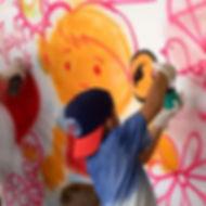 Graffiti, grafite, Oficina criativa, festa infantil, animação, malabarismo, circo, tema circo, circo rosa, atração, malabarismo