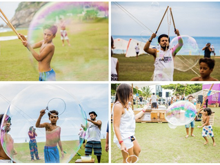 Nossa Oficina de Bolhas Gigantes no Oi Jogos Cariocas de Verão 2015