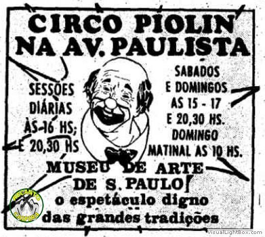 Cartaz do Circo Piolin
