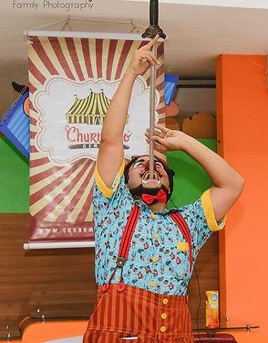 Palhaço Churumello , Show de Palhaço, circo, mágica, festa infantil, malabarismo