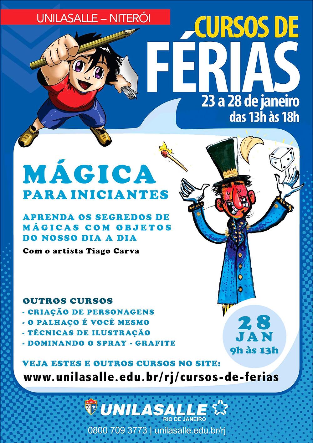 Curso de Férias 'Mágica para Iniciantes', com o multiartista Tiago Carva
