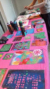 Customização com estêncil, customização, oficina, aniversário, fsta infantil rj, circo rosa, atrações, palhaço