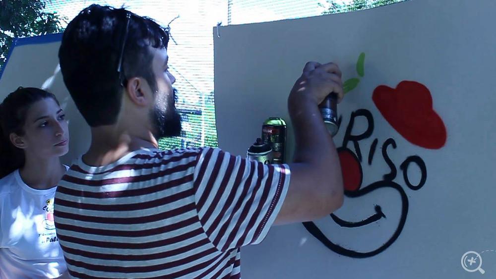 Oficina de Grafite com Tiago Carva, no Festival EuRiso