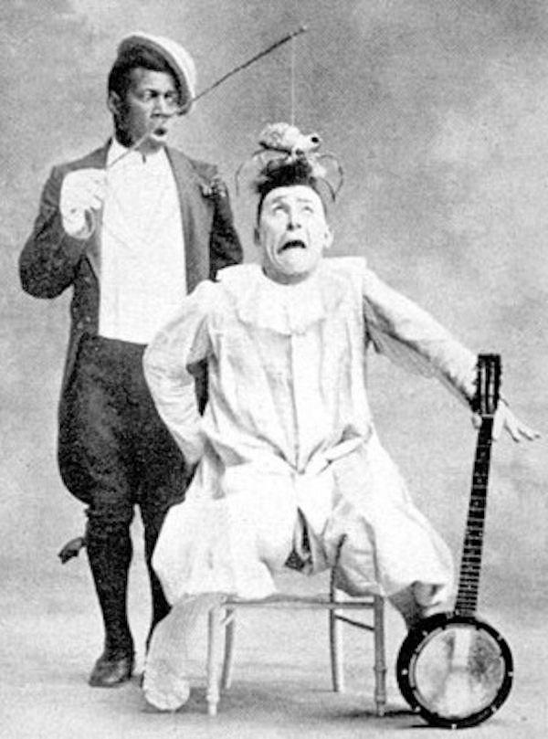Dupla 'Chocolate e Footit', em foto original do final do século XIX