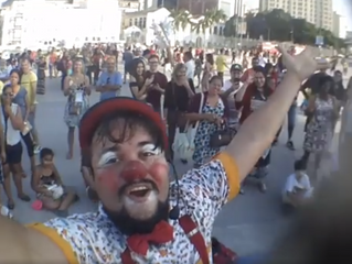 AGENDA: Palhaço Churumello no Boulevard Olímpico no dia 19 de agosto