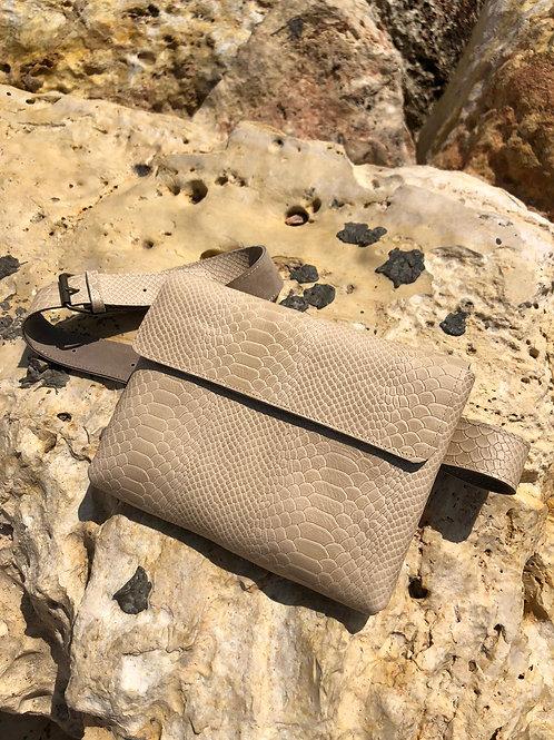 Cream  Anaconda snake bag